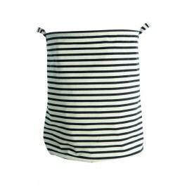 Koš na prádlo Stripes, černá barva, textil