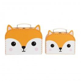 Kufřík Fox - 2 velikosti Menší, oranžová barva, papír