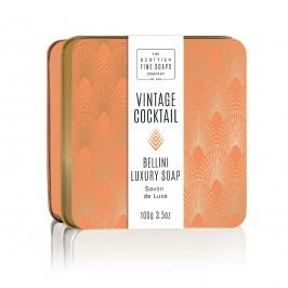 Mýdlo v plechové krabičce Bellini Cocktail, oranžová barva, měděná barva, kov