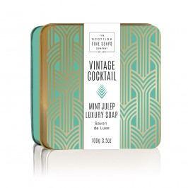 Mýdlo v plechové krabičce Mint Julep Cocktail, zelená barva, zlatá barva, kov