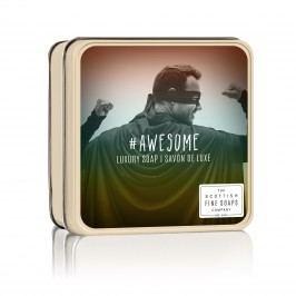 Mýdlo v plechové krabičce #Awesome, měděná barva, zlatá barva, kov