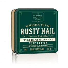 Mýdlo v plechové krabičce Rusty Nail Cocktail, zelená barva, kov