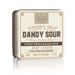 Mýdlo v plechové krabičce Dandy Sour Cocktail, béžová barva, hnědá barva, kov