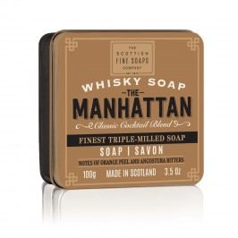 Mýdlo v plechové krabičce Manhattan Cocktail, hnědá barva, kov
