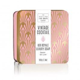 Mýdlo v plechové krabičce Kir Royale Cocktail, fialová barva, zlatá barva, kov