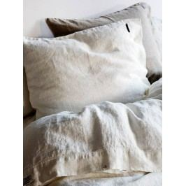 Kardelen Přírodní lněné povlečení Off white, bílá barva, textil