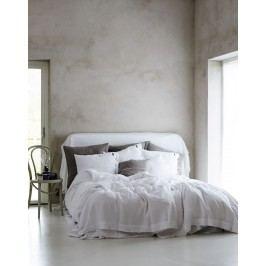 Kardelen Přírodní lněné povlečení Misty Cloud, bílá barva, textil