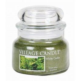 Svíčka ve skle White Cedar - malá, zelená barva, sklo