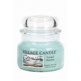 Svíčka ve skle Tranquil Moments - malá, modrá barva, sklo
