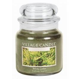 Svíčka ve skle White Cedar - střední, zelená barva, sklo