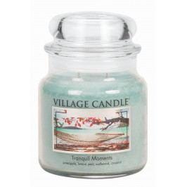 Svíčka ve skle Tranquil Moments - střední, modrá barva, sklo