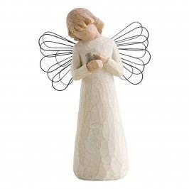 Anděl uzdravení, béžová barva