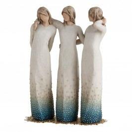 Willow Tree Figurka Willow Tree - Stojíme při sobě, modrá barva, bílá barva