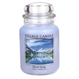 Svíčka ve skle Glacial Spring - velká, modrá barva, sklo, vosk