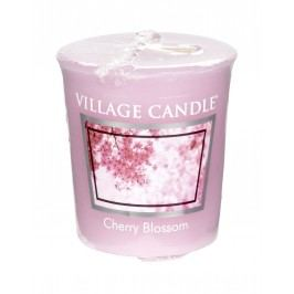 Votivní svíčka Village Candle - Cherry Blossom, růžová barva