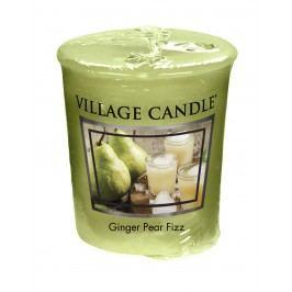 Votivní svíčka Village Candle - Ginger Pear Fizz, zelená barva, vosk