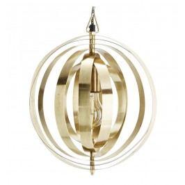 Závěsná lampa Hoop Brass, zlatá barva, kov