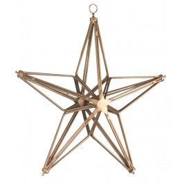Dekorativní závěsná hvězda Copper S, měděná barva, kov