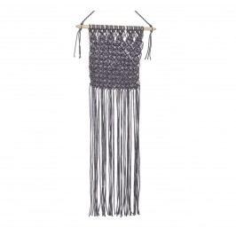 Nástěnná dekorace z provázků Grey, šedá barva, textil