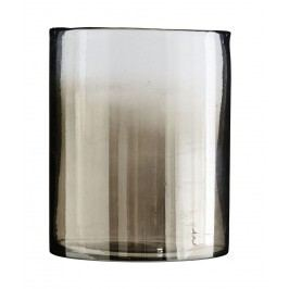 Skleněná váza s kouřovým efektem, čirá barva, sklo