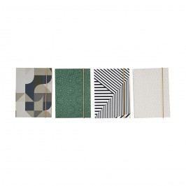 Papírový notýsek Colours - 4 druhy Varianta A, zelená barva, béžová barva, šedá barva, černá barva, bílá barva, papír