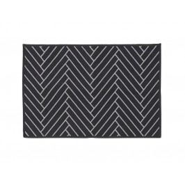 Rohožka Herringbone 60x90 cm, černá barva, bílá barva, plast