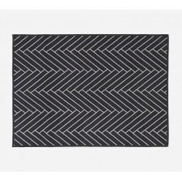 Rohožka Herringbone 90x120 cm, černá barva, plast