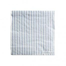 Papírové ubrousky Striped Ocean, modrá barva, bílá barva, papír