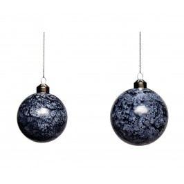 Vánoční baňka Blue/white Menší, modrá barva, sklo