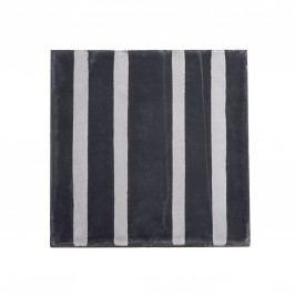Cementová kachle Black Stripe, šedá barva, černá barva