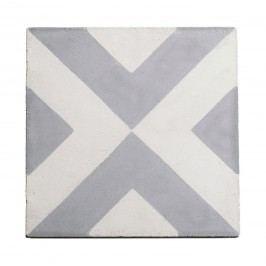 Cementová kachle Grey Pattern, šedá barva, beton