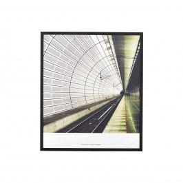Obraz Places 02, zelená barva, černá barva, bílá barva, sklo, dřevo, papír