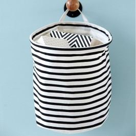 Textilní košík Stripes, černá barva, textil