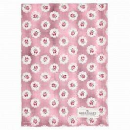 Kuchyňská utěrka Tammie red, červená barva, růžová barva, bílá barva, textil