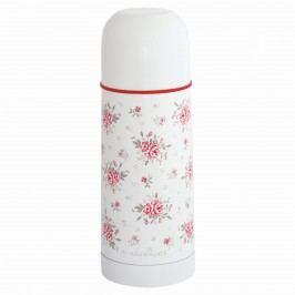 Termoska Flora white 300 ml, růžová barva, bílá barva, kov