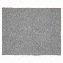 Prošívaný přehoz Grey Floral 140x220 cm, šedá barva, textil