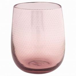 Skleněná váza pale pink, růžová barva, sklo