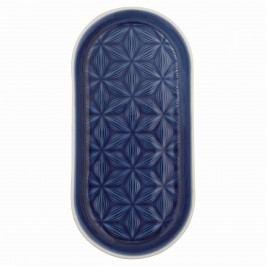 Malý keramický tácek Kallia dark blue, modrá barva, keramika