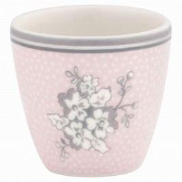 Stojánek na vejce Ella pale pink, růžová barva, šedá barva, bílá barva, porcelán