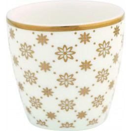Stojánek na vejce Laurie gold, bílá barva, zlatá barva, porcelán