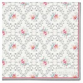 Papírové ubrousky Daisy pale grey, růžová barva, papír