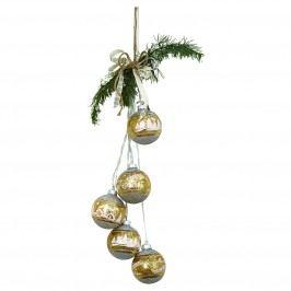 Světelný řetěz s baňkami December Gold, zlatá barva, sklo