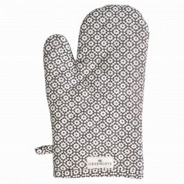Grilovací rukavice Jasmina warm grey, šedá barva, bílá barva, textil
