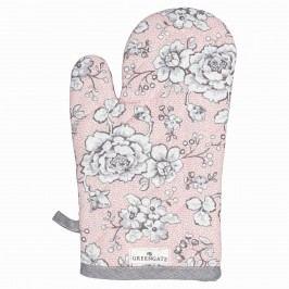 Grilovací rukavice Ella pale pink, růžová barva, textil