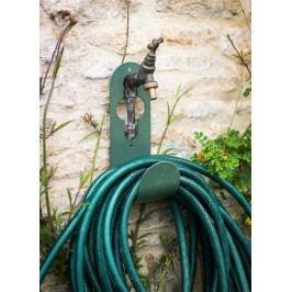 Garden Trading Kovový držák na zahradní hadici Thyme, zelená barva, kov
