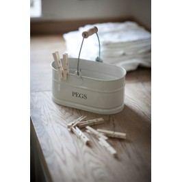 Garden Trading Kovový kyblík na kolíčky Chalk, šedá barva, kov
