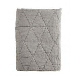 Prošívaný přehoz Charcoal 140x200 cm, šedá barva, textil