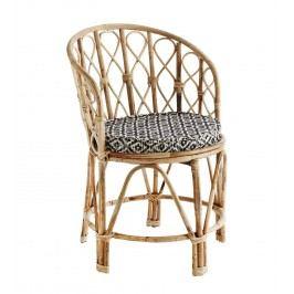 Židle s podsedákem Bamboo, hnědá barva, dřevo
