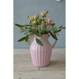 Džbán 19 cm Mynte light pink, růžová barva, keramika