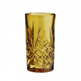 Vysoká sklenička Glass Amber, žlutá barva, oranžová barva, sklo
